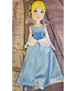 "Disney Store Cinderella 17"" Plush Doll ""Cindy Spring"" Flowers Embroidere... - $12.34"