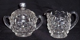 Large Vintage Clear FOSTORIA AMERICAN Covered 2... - $37.62
