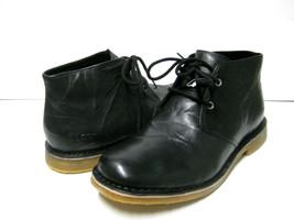 UGG LEIGTON MEN BOOTS LEATHER BLACK US 9.5 /UK 8.5 /EU 42.5 - $108.89