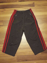 Boys The Childrens Place Gray w/ Red Stripes Athletic Pants 24 mths B13 - $7.04