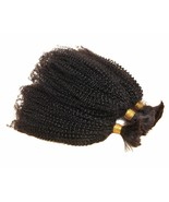 Mongolian Afro Kinky Curly Human Hair Weave Bulk Extension for Braiding No Weft - $35.53 - $79.05