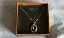 Monet Women's Pendant Necklace Silver Blue Tones - $18.70
