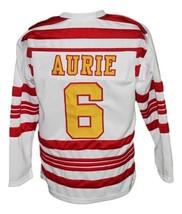 Custom Name # Detroit Falcons Retro Hockey Jersey New White Aurie #6 Any Size image 2