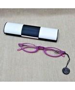 GL314 Jimmy Crystal Reading Glasses Light/Amethyst +2.25 Eyeglasses & Case - $69.99