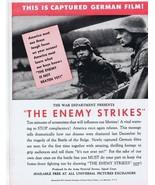 The Enemy Strikes WWII 1945 ORIGINAL Vintage 9x12 Industry Ad   - $46.56