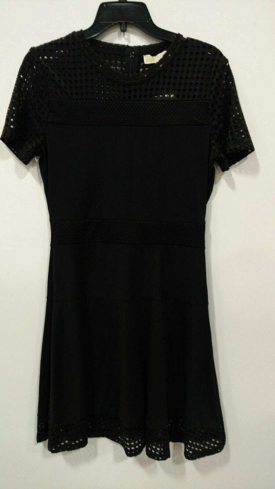 Primary image for New $235 Michael Kors Women's Black Lace Mesh Fit & Flare Cocktail Dress Size M