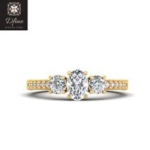 3 Stone Solid 14k Yellow Gold Topaz Womens Engagement Wedding Ring Free Ship  - $679.99