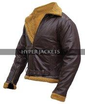 B3 Ginger Aviator Shearling Flying Pilot Real Sheepskin Bomber Leather Jacket image 5