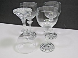 """MIKASA crystal THE RITZ TS400 pattern WINE GOBLET or GLASS 6.5"""" set of FOUR - $31.68"""