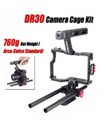 Camera Cage Kit Stabilizer Rig Handle Grip For Sony Canon Panasonic Cam Rig - $109.38
