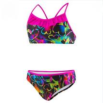 Speedo, Girls, Neon Love Print Ruffle 2PC Swimsuit - $18.99