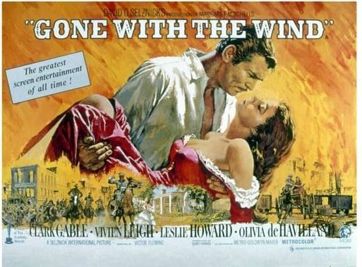 Gone with the wind horizontal poster