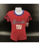 New York Giants Girls T Shirt NFL Team Apparel Size Youth M 7/8 - NEW -AK - $14.99