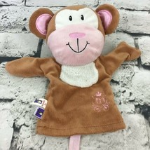 Manhattan Toy Co Monkey Plush Hand Puppet Simple Soft Brown Chimp - $9.89