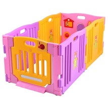 Pink 6 Panel Baby Playpen Kids Safety Play Center Yard - $122.35