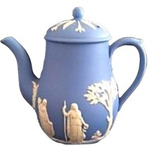 WEDGWOOD BLUE JASPER COFFEE/TEA POT MADE IN ENGLAND - $158.39