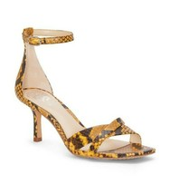 New Vince Camuto Yellow Mary Jane Kitten Heel Sandals Size 8.5 M $110 - $33.24