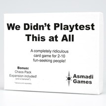 We Didnt Playtest This at All Card Game Fast Paced Multiplayer Asmadi AS... - $16.99