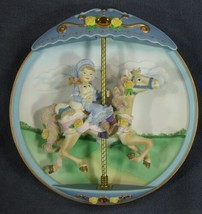Wishful Thinking Collector Plate Carousel Daydreams Tseng 3D Figural READ - $21.95