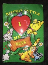 "NEW Dog Bone Biscuit Cookie Cutter 3"" + Heart Cutter w/ Dog Biscuit Recipe - $7.91"