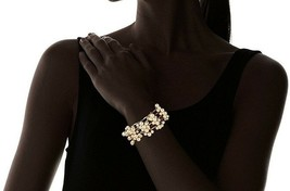 David Aubrey Hadrien USA Made Chain & Simulated Pearl Fringe Bracelet NWT image 2