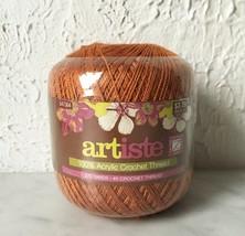 Artiste Acrylic Crochet Thread #5 Strong Durable - 1 Ball Color Honey Br... - $3.75