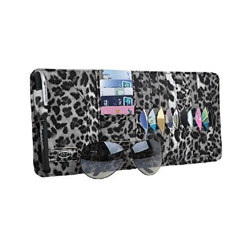 PANDA SUPERSTORE Multi-functions Leopard CD DVD Car Auto Visor Organizer Holder