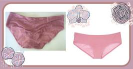 L Large PINK Victorias Secret Ruched FULL Back Mesh Stretch Hiphugger Pa... - $10.99