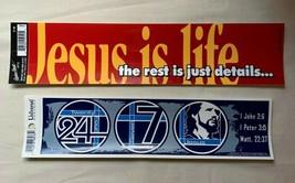 Christian Bumper Stickers - 24/7 Jesus - Jesus is LIfe - $4.00