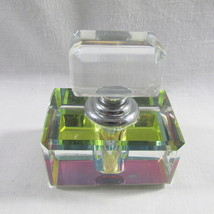 Prism Colors Perfume Bottle New Diamond Cut Glass Dauber Refillable USA ... - $18.98