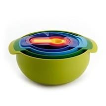 Joseph Joseph 40031 Nest 9 Plus Compact Food Preparation Set Mixing Bowls - $1.411,28 MXN
