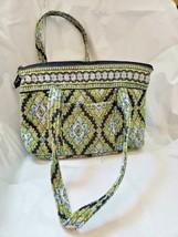 Vera Bradley Bag Green and Blue Paisley Zipper Bag Shoulder - £15.02 GBP