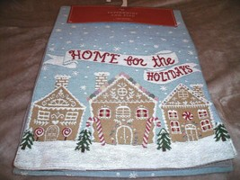 "NEW GINGERBREAD HOUSE Tapestry TABLE RUNNER 13"" X 72"" HOME FOR THE HOLID... - $19.75"