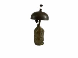 Vintage Hotel Motel Front Desk Solid Brass Owl Bellhop Service Clerk Bell image 5