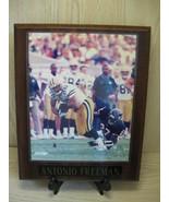 Green Bay Packer Antonio Freeman NFL Wood Frame Picture 2001 - $12.95