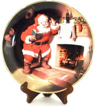 1993 The Pause That Refreshes Coca-Cola Coke Christmas Plate Franklin Mint - $19.99