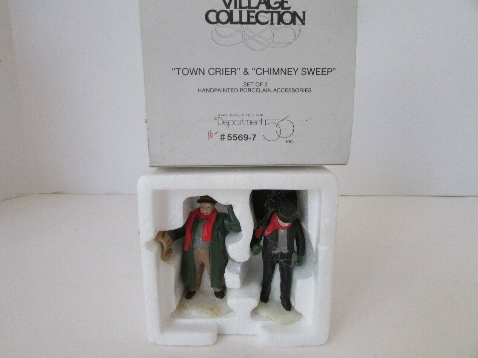 Primary image for DEPT 56 55697 TOWN CRIER & CHIMNEY SWEEP FIGURINES HERITAGE  D11
