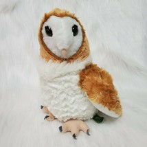 "12"" Wild Republic Barn Owl Brown White Plush Stuffed Animal Toy B350 - $12.97"
