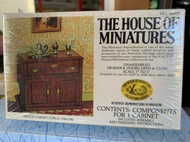 Dollhouse House of Miniatures Hutch Cabinet Circa 1750-1790 No 40003 New - $14.99