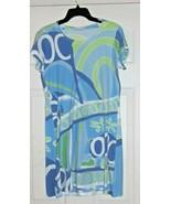 Before+Again Mod Dress Sz. L Green Blue White USA - $14.84