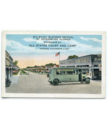 All States Court Camp Tourist Bus St Petersburg Florida 1920s postcard - $7.43