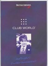 British Airways Club World In Flight Entertainment Guide 1990's - $22.76