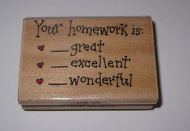 Your Homework is Rubber Stamp Great Excellent Wonderful School Grading Papers - $4.74
