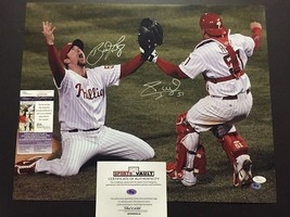 Autographed/Signed BRAD LIDGE CARLOS RUIZ 2008 World Series 16x20 Photo ... - $174.99