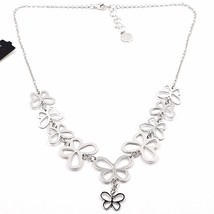 Necklace Silver 925, Row Of Butterflies, By Maria Ielpo , Made IN Italy image 1