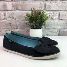 KEDS Women Navy Canvas Rag Bow Slip On Shoes Sneakers Ballet Flats 6M - $18.69