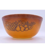 """Vtg Pyrex Old Orchard Brown Nesting Mixing Bowl 403 2.5 qt 8.5"""" Round  - $14.99"""