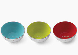 Kate Spade 3 Piece Mini Bowl Set in Vintage Colors Eat-Drink-Be Merry Ne... - $34.90