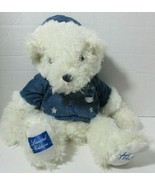Vintage Hamleys 2004 Limited edition White with Blue coat Stuffed Bear - $6.23
