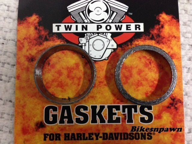 2 Tapered Exhaust Cone Gaskets 1984-2016 Harley Big Twins 86-16 Sportster 046003